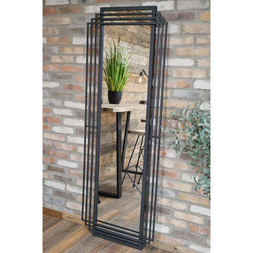 Retro Industrial Art Deco Large Mirror (66 x 6 x 183cm) - clearance damage