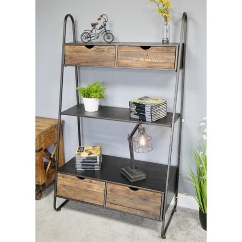 Brixton Metal and Wood Ladder Style Display Unit (94 x 50 x 162cm)