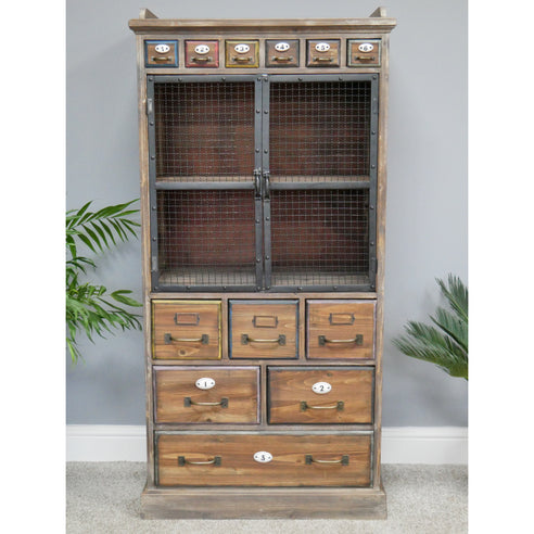 Brixton Metal and Wood Industrial Storage Cabinet (61 x 45 x 135cm)
