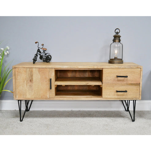 Hoxton Metal Industrial Retro 'Open Wirework' TV Media Unit