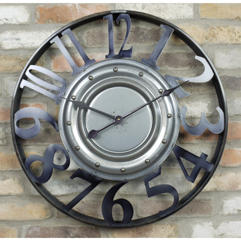 Retro Industrial Metal Clock (64 x 7 x 64cm)