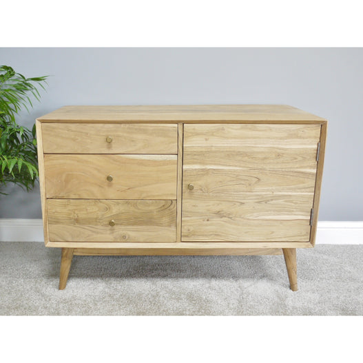 Hoxton Living Acacia Wood Sideboard in Natural Finish (101 x 48 x 68cm)