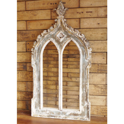 Beach House Distressed Wood Arched Mirror (60 x 3 x 116cm)