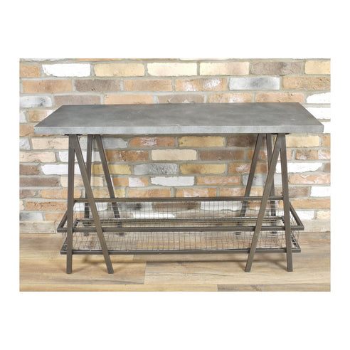 Hoxton Metal Industrial Trestle Console Table ( 120 x 40 x 77 )