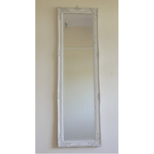 French White Full Length Mirror ( 40 x 130 ) - clearance
