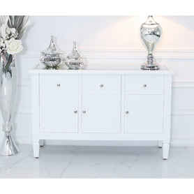Tangier White Wood Sideboard (127 x 40 x 81cm)