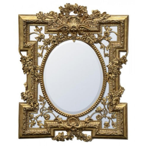 Vintage gold french rococo mirror