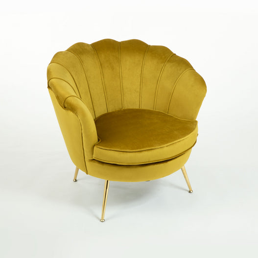 Bronze Velvet Art Deco Peacock Cocktail Armchair.
