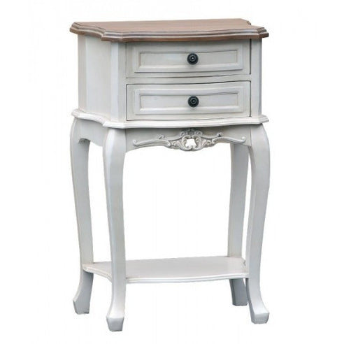 Orleans antique white french bedside