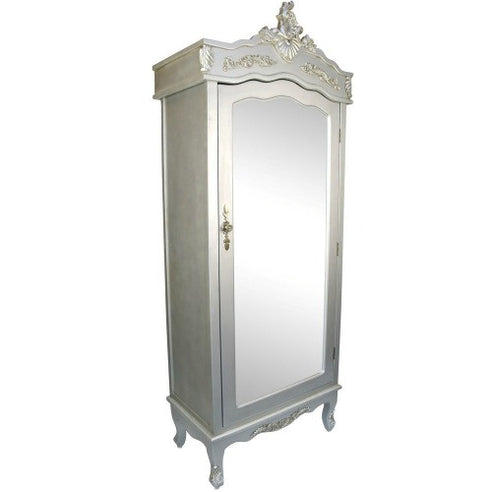 Silver french shabby chic nursery armoire