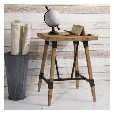 Flanders loft style industrial wood side table