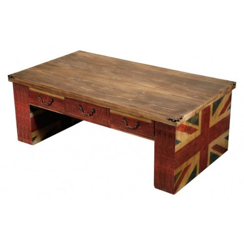 Union jack vintage coffee table