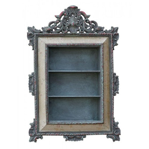 Vintage antique silver french framed shelf unit