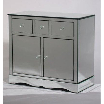 Venetian glass sideboard cabinet with drawers