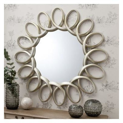 Auckley silver infinity mirror