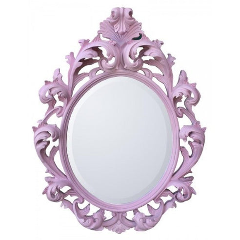 Pink french vintage rococo mirror