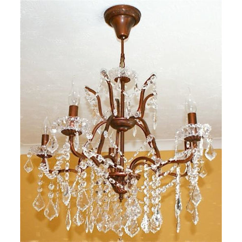 Shabby chic laura bronze chandelier 5 arm
