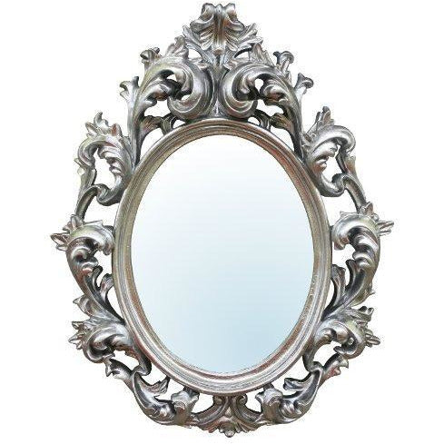 Silver french style rococo mirror