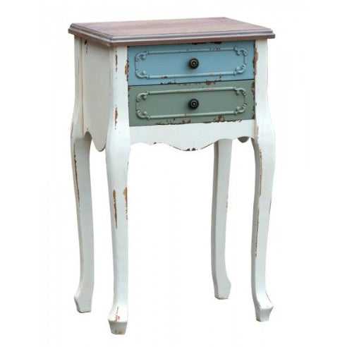 Orleans multi colour french bedside table