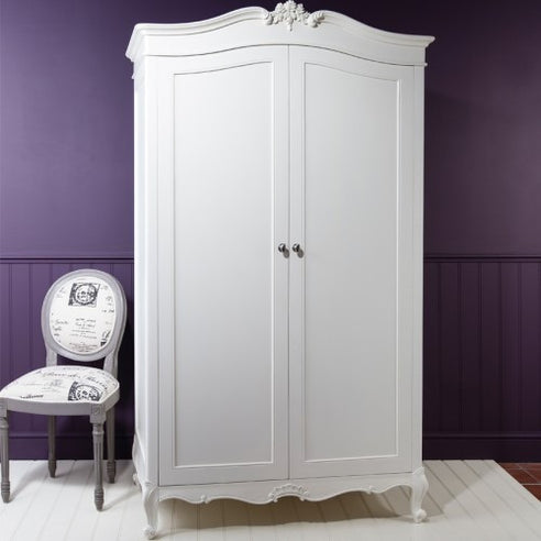Chic Chalk White French Armoire