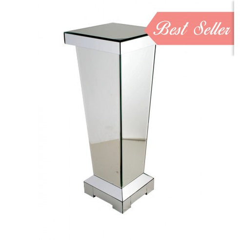 Art Deco Classic Mirrored Pedestal (30 x 30 x 80cm)