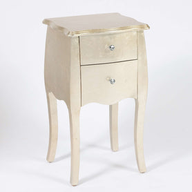 Alchemist Gold Gilt Leaf French Bombe Bedside Table (40 x 34.5 x 71cm)