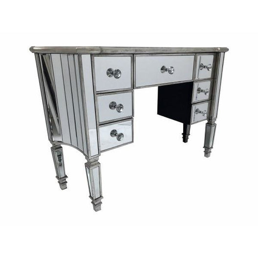 Venetian Glass 'Marbella' Mirrored Dressing Table (120 x 36 x 80cm)