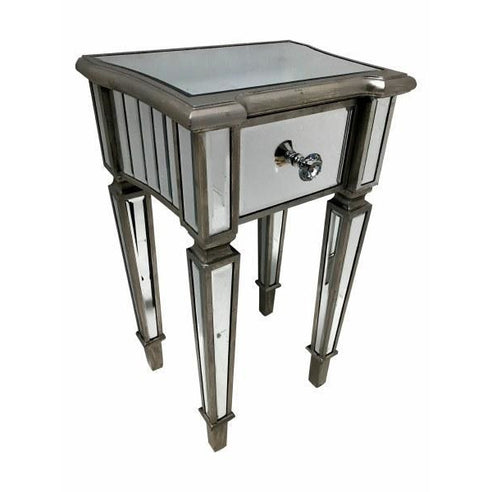 Venetian Glass Marbella Bedside Table (42 x 32 x 71cm)