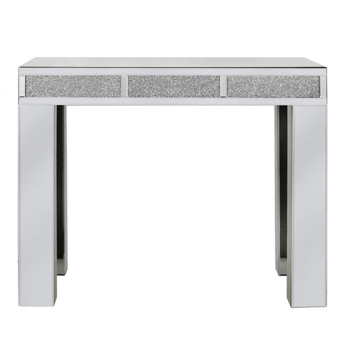 Turin Silver Bricks Mirrored Console Table (100 x 33 x 80cm)