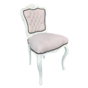 Cream Velvet Cream Frame French Boudoir Chair