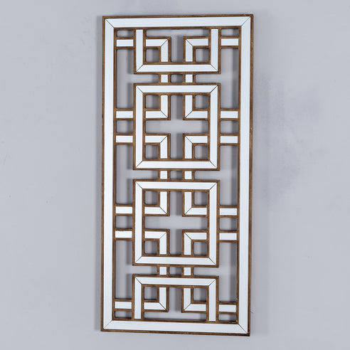 Labyrinth Venetian Glass Wall Mirror Decorative Panel (38 x 3 x 80cm)