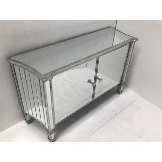 Venetian Glass 'Marbella' Mirrored Sideboard (120 x 38 x 72cm)