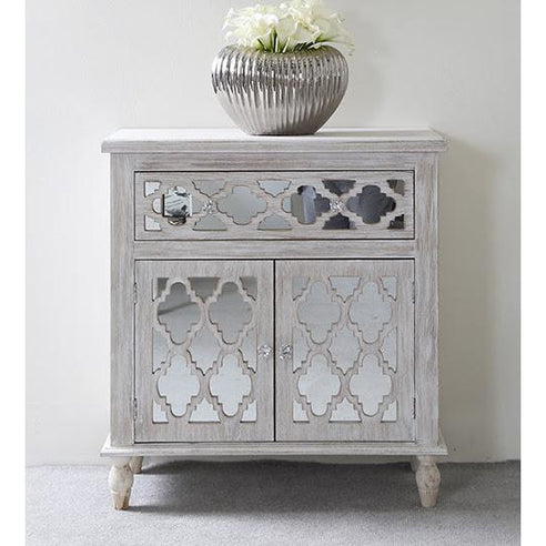 New Hampshire Washed Ash 1 Drawer/2 Door Sideboard (75 x 36.5 x 80.5cm