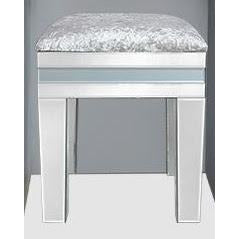 Grey Metro Mirrored Stool (43 x 45 x 53cm)