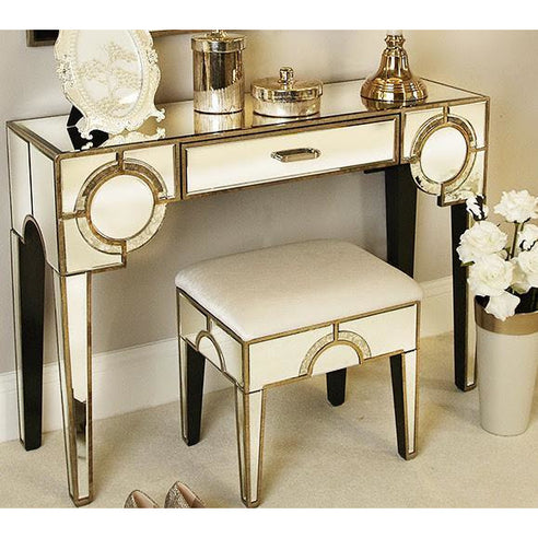 Berkeley Venetian Mirrored 1 Drawer Console Table (110 x 35 x 79cm)