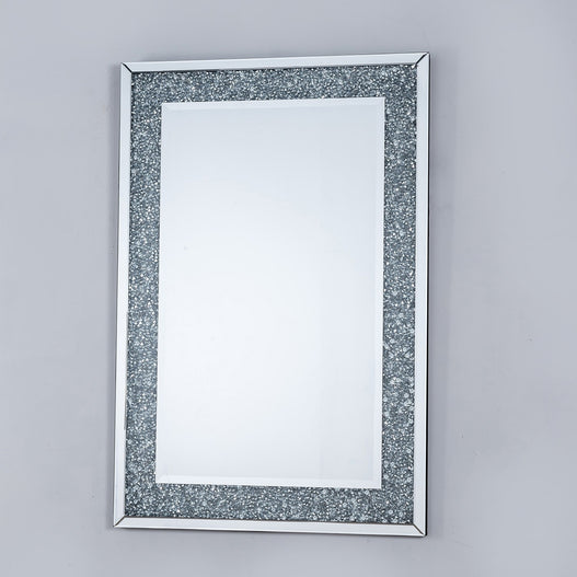 Diamond Crush Mirrored Venetian Glass Rectangular Mirror (80 x 120)