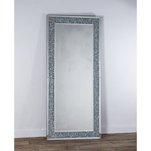 Diamond Crush Mirrored Venetian Glass Large floor Leaner mirror (80 x 180)