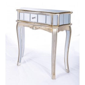 Annabelle Mirrored Silver Gilt Venetian Console Dressing Table (80 x 30 x 81.5cm)