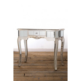 Annabelle Venetian Mirrored Silver Gilt Console Dressing Table (91 x 45 x 77cm)