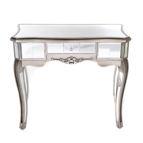Annabelle Mirrored Gunmetal Silver Paint Venetian Console Dressing Table (80 x 30 x 81.5cm)