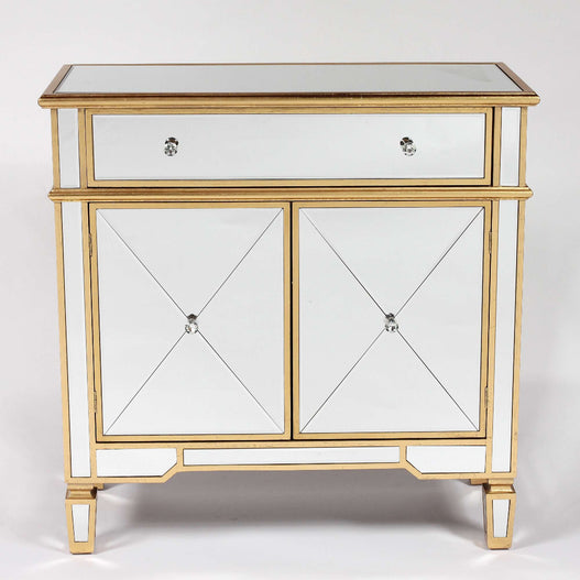 Genevieve Mirrored Gold Small Sideboard