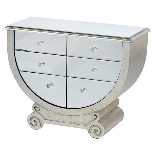 Venetian Glass Art Deco Style 'Trophy' Chest of Drawers (78 x 35 x 60cm)