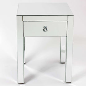 Broadway Art Deco Mirrored Side Table