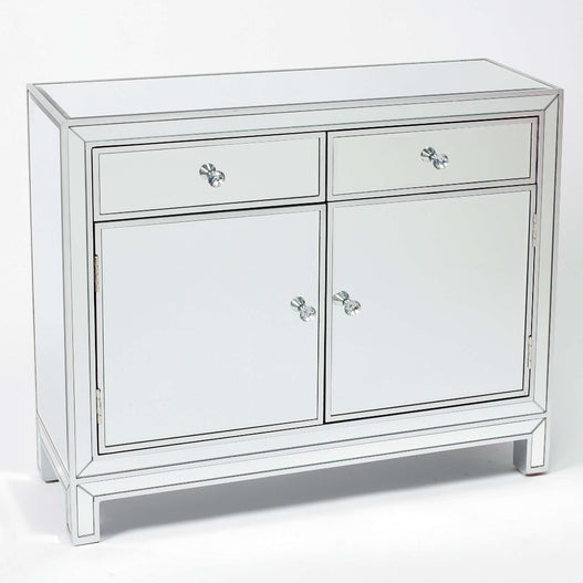 Paris Art Deco Mirrored Silver Sideboard