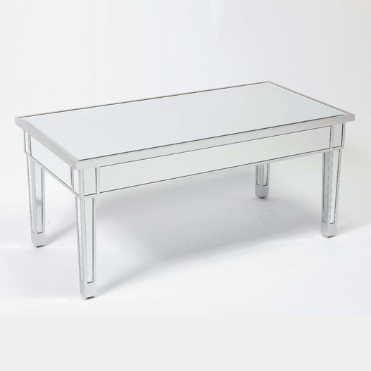 Paris Art Deco Mirrored Silver Coffee Table