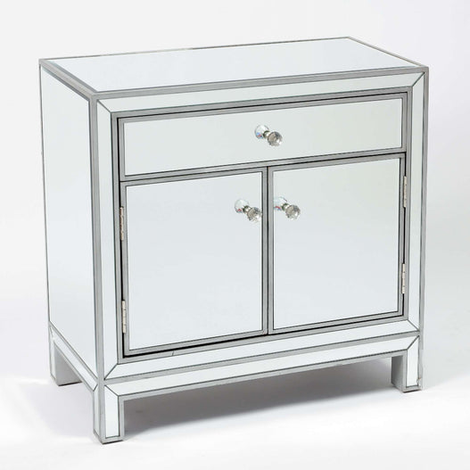 Paris Art Deco Mirrored Silver Small Sideboard