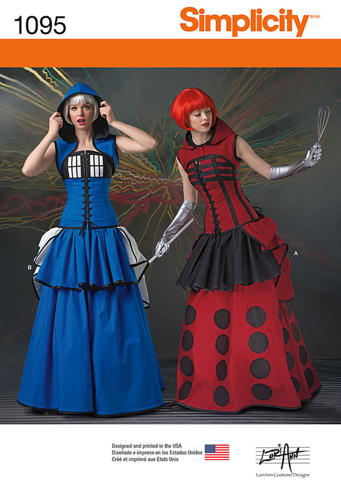 Simplicity Misses' Dr. Who Costumes #1095H5 (6-8-10-12-14)