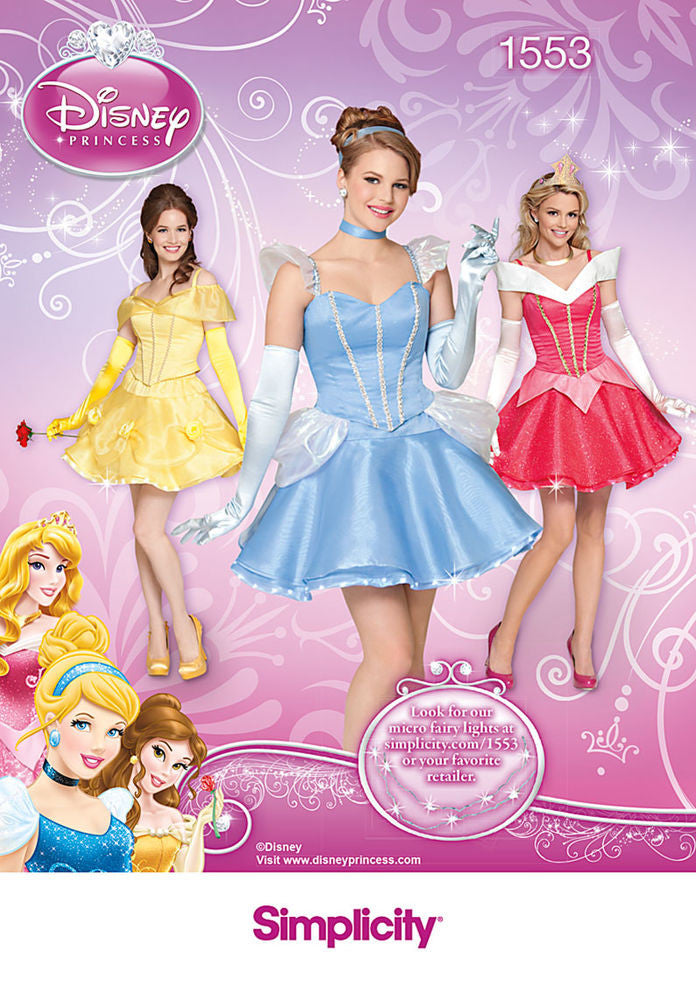 Simplicity Disney Princess Costumes #1553R5 (14-16-18-20-22)