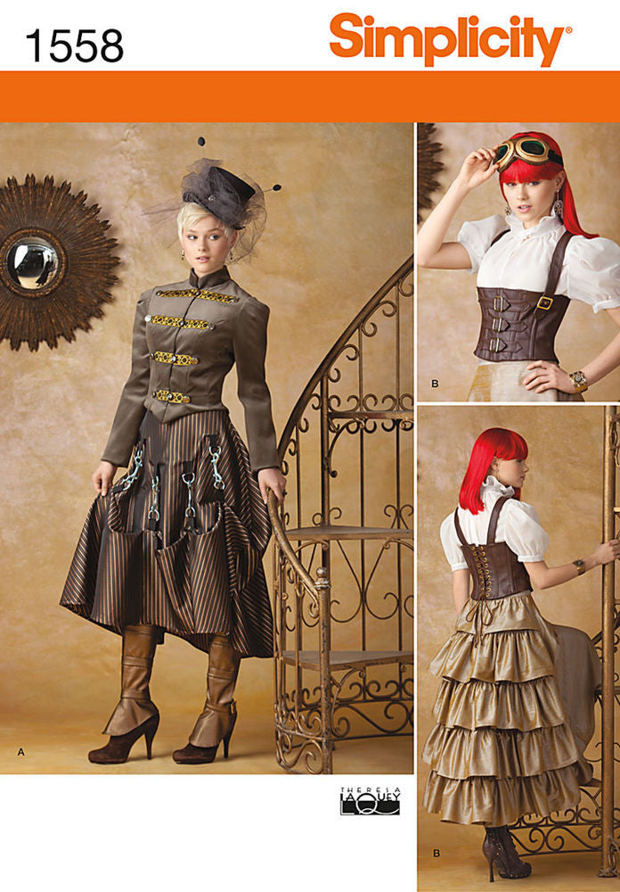 Simplicity Misses' Steampunk Costumes #1558HH (6-8-10-12)