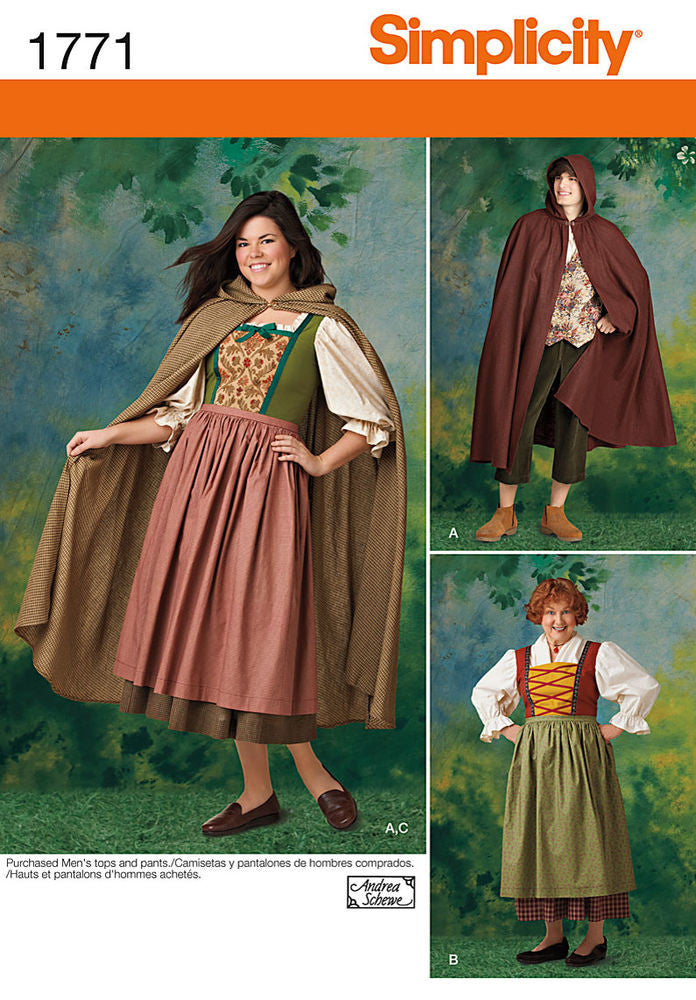 Simplicity Misses' & Men's Costumes #1771A (8-18 / XS-XL)